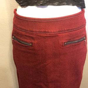 NWT Red Engine Nova crimson zipper pencil skirt